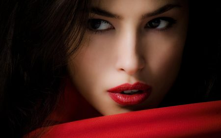 Red Makeup Style on beautiful woman